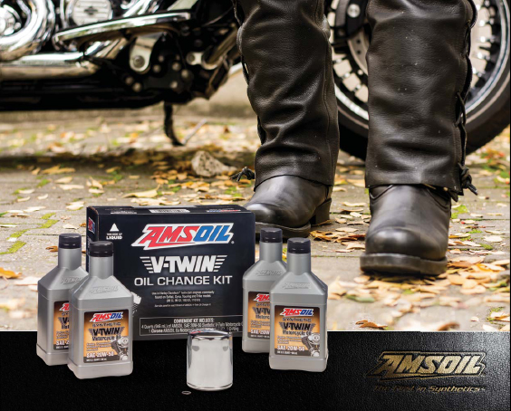 The amsoil v twin oil change kit is here roy hill independent outstanding wear protection amazing heat resistance all in one convenient kit solutioingenieria Gallery
